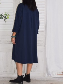 Ornella, robe sweat - Marine