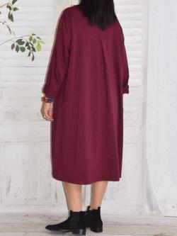 Ornella, robe sweat - bordeaux