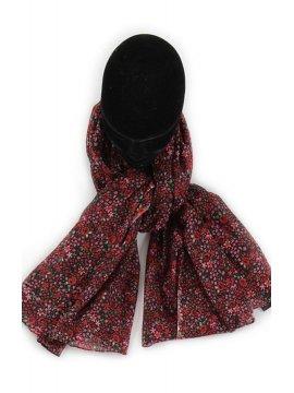 Flora, foulard imprimé rouge
