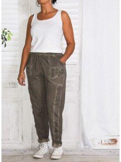 Berlin, pantalon sportswear,  Lagenlook - taupe