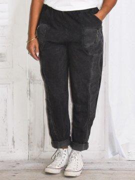 Berlin, pantalon sportswear, Lagenlook gris zoom