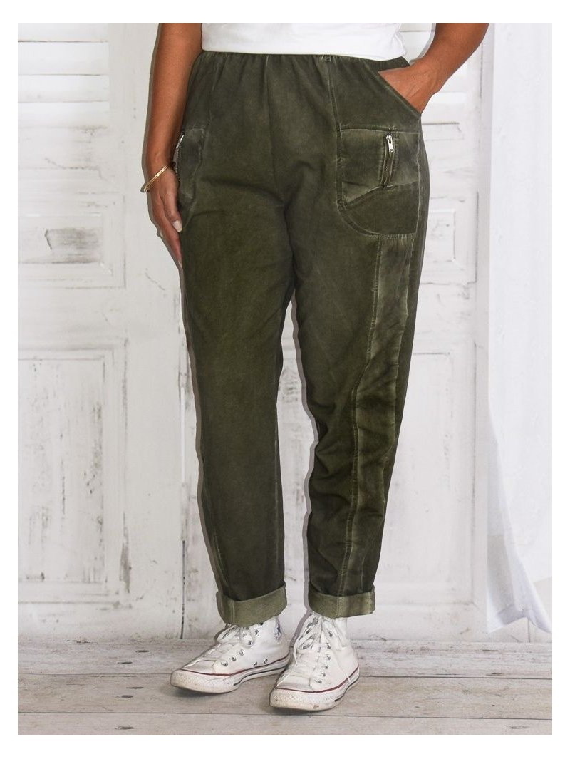 Pantalon sweat grande taille, Lagenlook pour Kalimbaka
