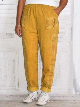 Berlin, pantalon sportswear, Lagenlook jaune zoom