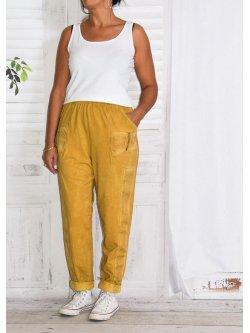 Berlin, pantalon sportswear,  Lagenlook - jaune