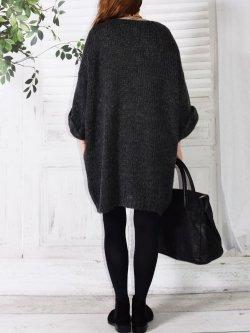 Robe Pull en maille,  marque Lagenlook modèle Douceur - anthracite