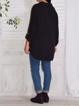 Alex, chemise fluide, Lagenlook noir dos