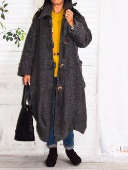 Manteau en laine bouillie, Vilnius, marque Lagenlook - anthracite