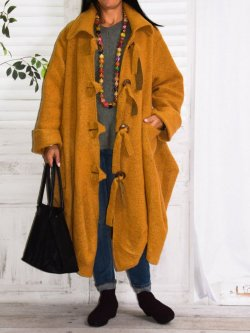 Manteau grande taille laine bouillie Kalimbaka