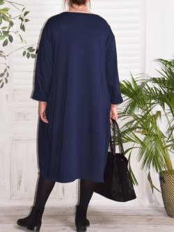 Charline, robe sweat originale - Marine