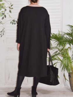 Charline, robe sweat originale - noir