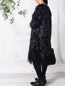 Robe velours , Féerie, marque Lagenlook - anthracite