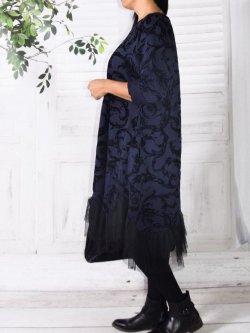 Robe velours , Féerie, marque Lagenlook - Marine