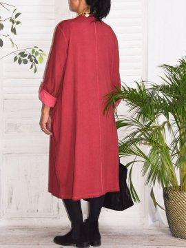 Sandra, robe originale, Lagenlook prune dos