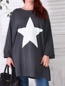 Tunique sweat Star,  marque Lagenlook