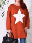 Tunique sweat Star, marque Lagenlook orange zoom