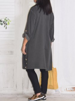 Sonia, robe tunique - gris