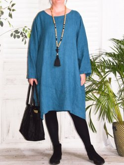 Romane,  robe lin Lagenlook