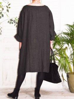Romane,  robe lin Lagenlook - anthracite