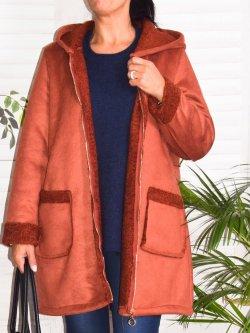 Estelle, manteau suédine, Lagenlook