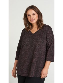 Blouse en lurex en encolure en V