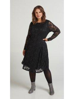 Anita, robe dentelle fêtes, Zizzi - noir