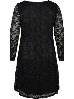Anita, robe dentelle, Zizzi - noir