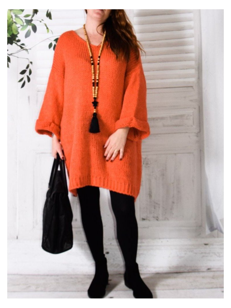 Douceur, Robe pull grande taille