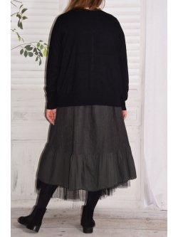 Aurore, robe en lin bohème - anthracite