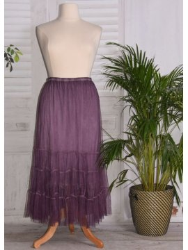 Lisa, jupon long en tulle violet