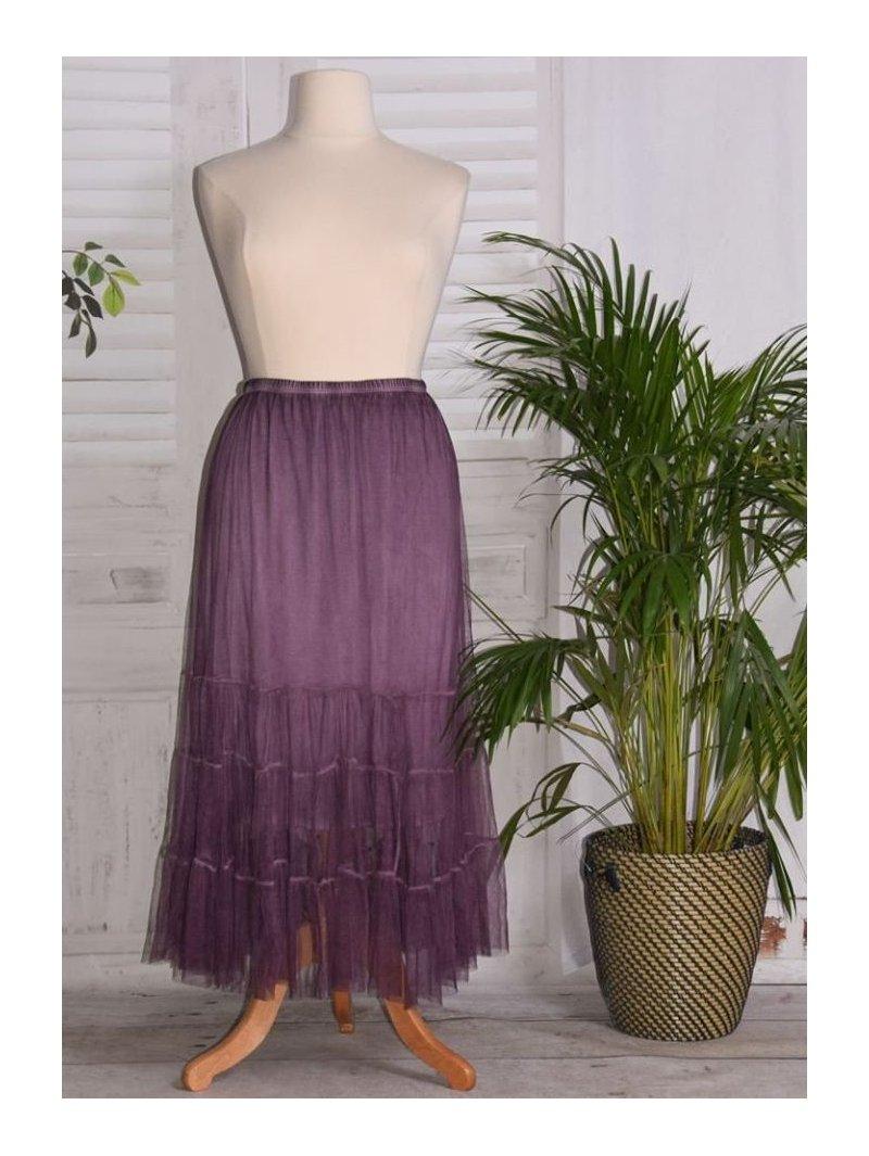 Lisa, jupon long en tulle violet