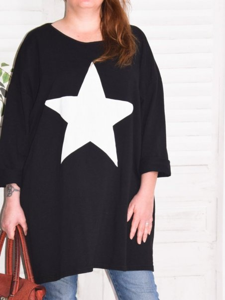Sweat Star grande taille Kalimbaka