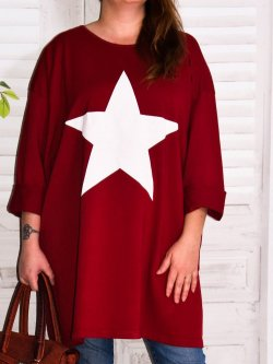 Tunique sweat Star,  marque Lagenlook