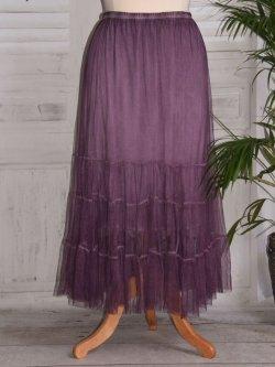 Lisa, jupon long en tulle - violet