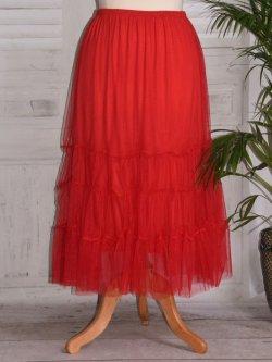 Lisa, jupon long en tulle - rouge