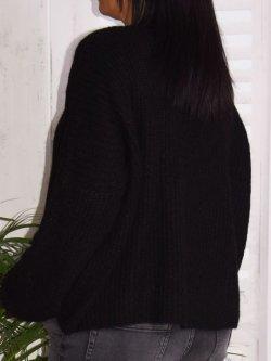 Pull en maille,  marque Lagenlook modèle Lucy - noir