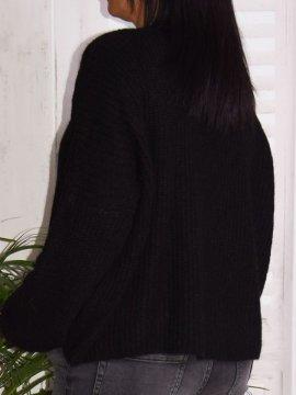 Pull en maille, marque Lagenlook modèle Lucy noir dos
