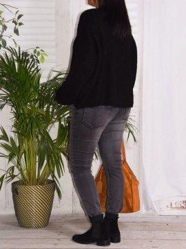 Pull en maille, marque Lagenlook modèle Lucy noir coté