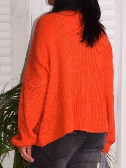 Pull en maille,  marque Lagenlook modèle Lucy - orange