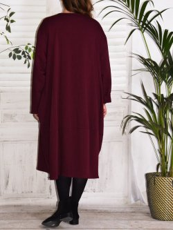 Charline, robe sweat originale - bordeaux