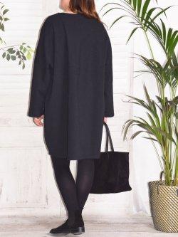 Melissa, robe en sweat - noir