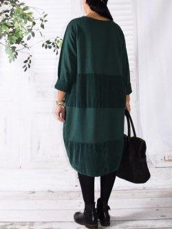 Vancouver robe originale,  marque Lagenlook - vert bouteille