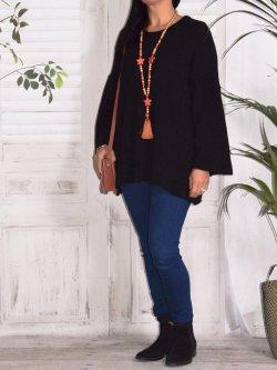 Leslie, pull tunique - noir
