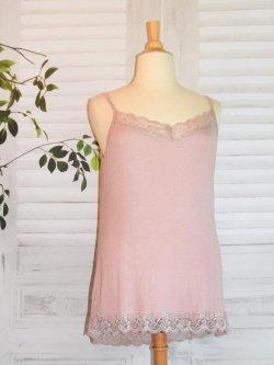 Caraco dentelle - rose