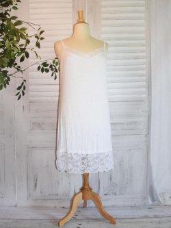 Fond de robe dentelle - blanc