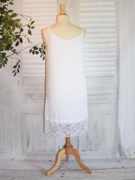 Fond de robe dentelle blanc dos