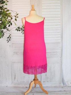 Fond de robe dentelle - fuchsia