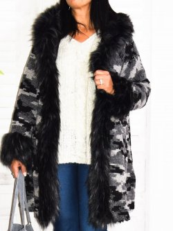 Norma, manteau camouflage, Lagenlook