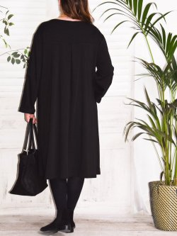 Ornella, robe sweat - noir
