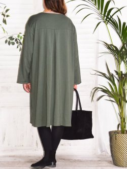 Ornella, robe sweat - kaki