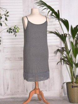 Fond de robe dentelle - gris